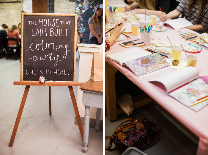 house that lars built // coloring party