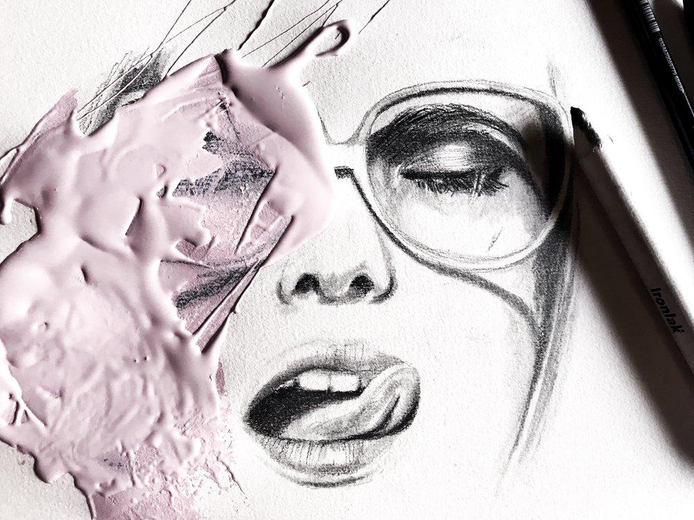 Ironlak graphic pencils and paint on paper // Sydney, Australia