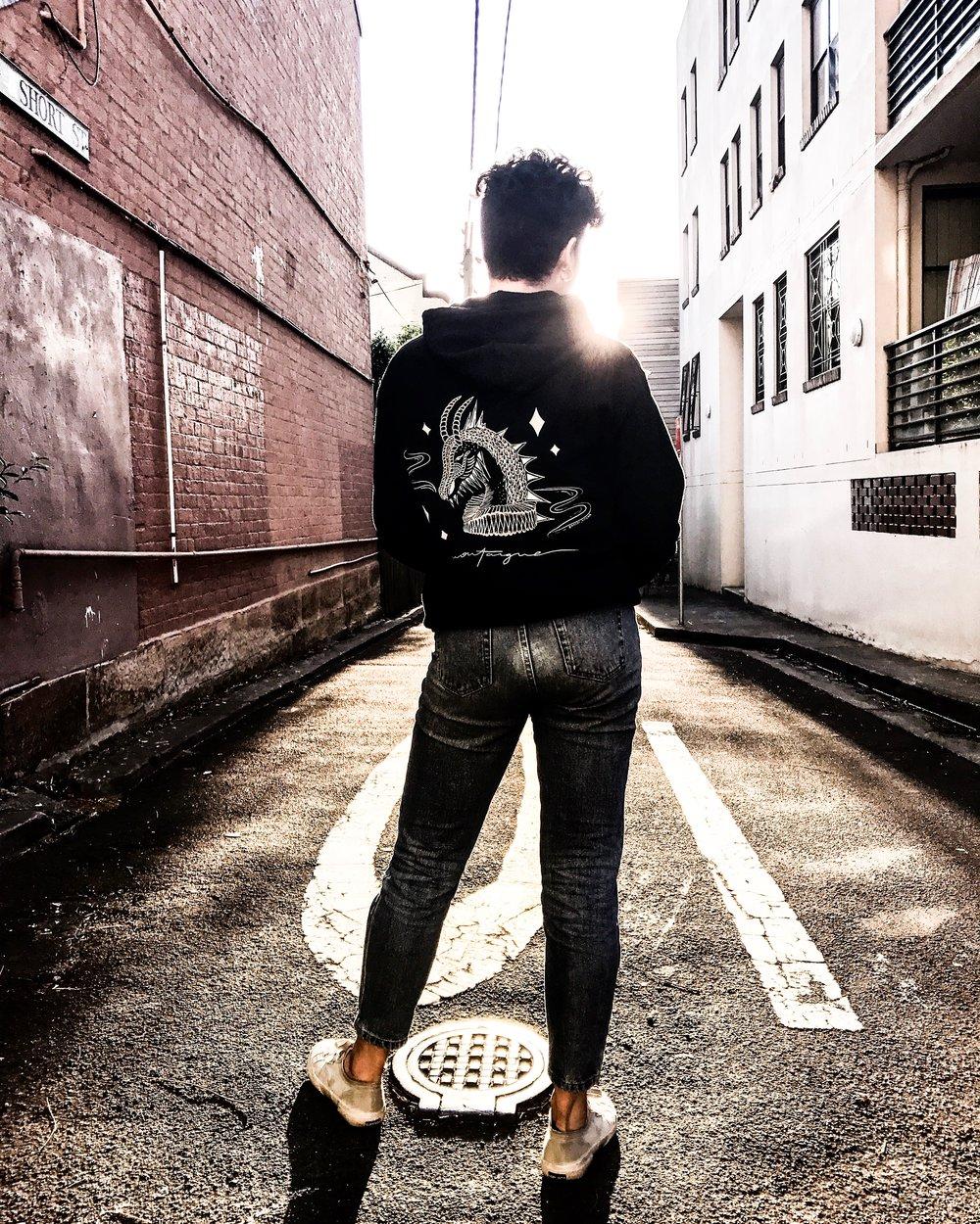 Montaigne // Tour hoodie design // Sydney, Australia