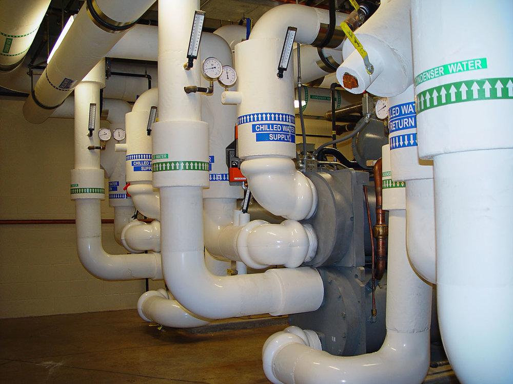 Condenser Water Pipes for HVAC Construction by Rice Mechanical