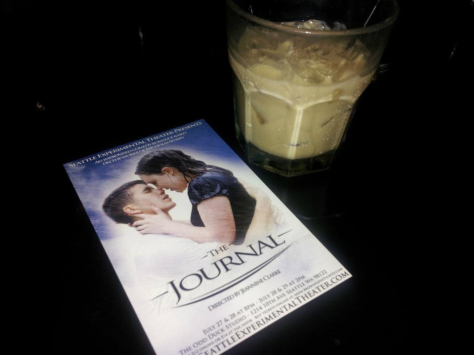 A postcard for 'The Journal' and a white russian.