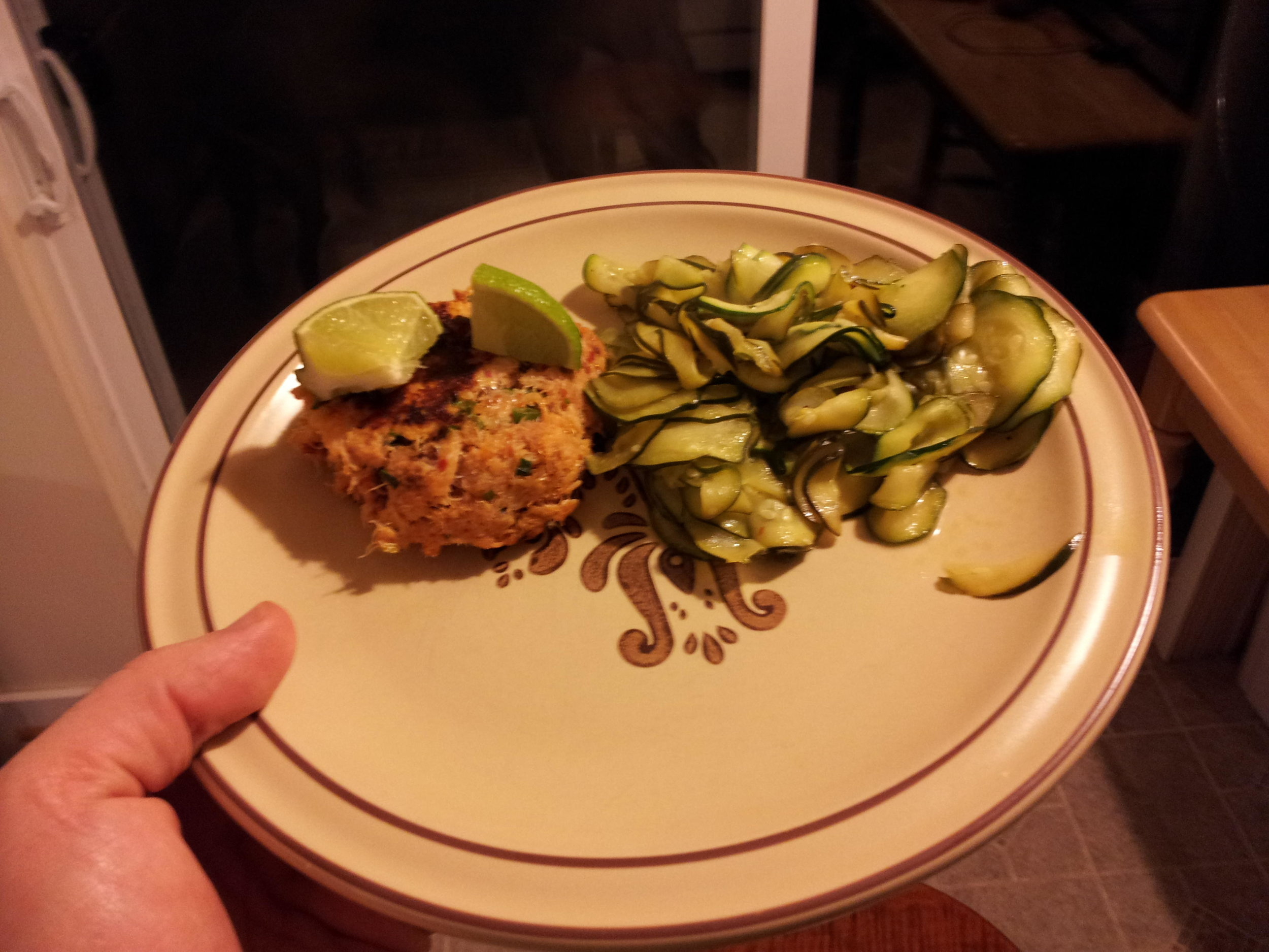 Crab Cakes with Zucchini side