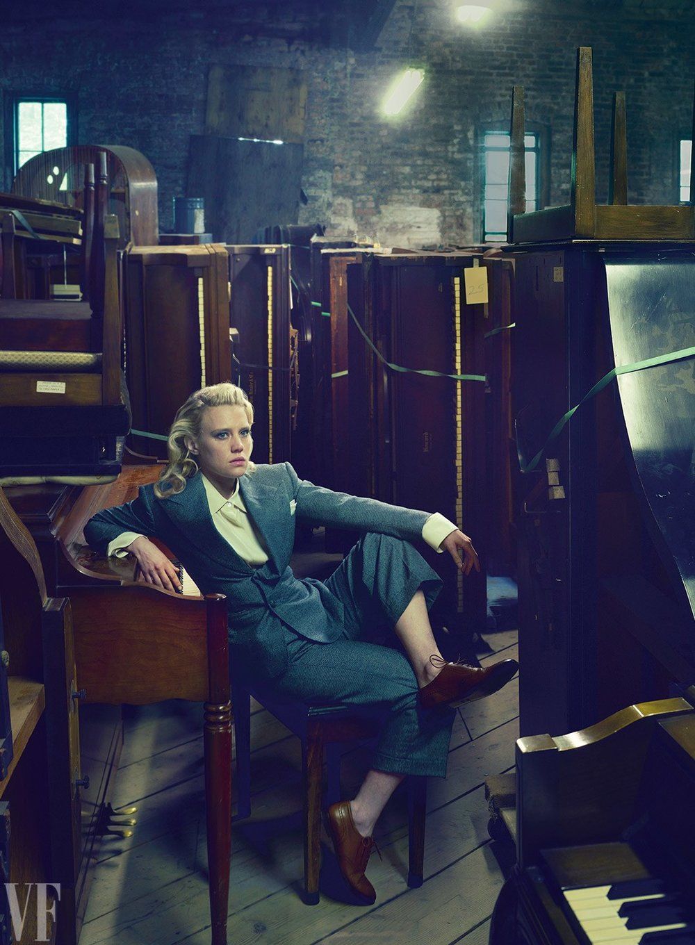All rights in above photograph owned by or licensed to Vanity Fair. Photograph by Annie Leibovitz; Styled by Jessica Diehl .