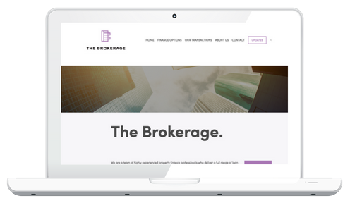 The Brokerage - Professional modern site with large business needs and a blog. Website work through Techno Bird.