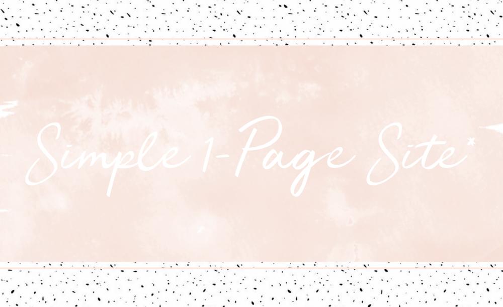 Simple 1-page site. Flossy Digital Website Packages