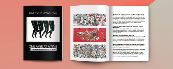 9 Artist Interviews, 35-Pages. Digital & Printed Magazine, written and created by Shayna Yasuhara. Read online.