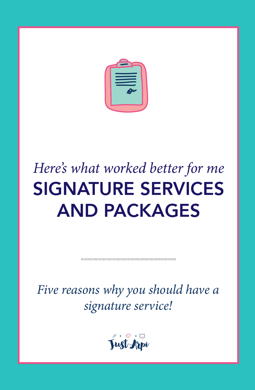 Here's what for me and my business. Signature services and packages! I am talking about five reasons why you should a signature service and talk about the power of mentoring!