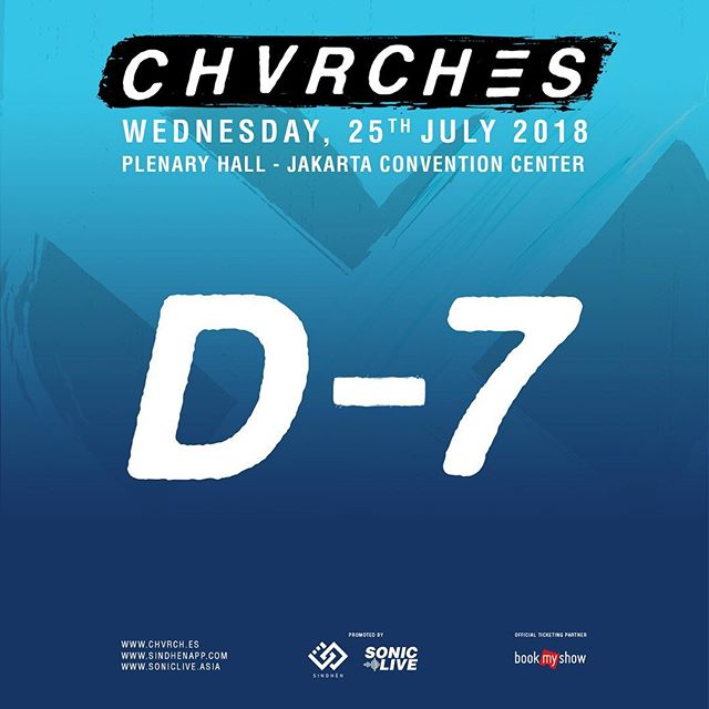 CHVRCHES' only show in South East Asia is ONE WEEK AWAY! What's the perfect emoji to describe your excitement right now? . . #SonicLiveAsia x #SINDHEN #GETOUTwithSonic