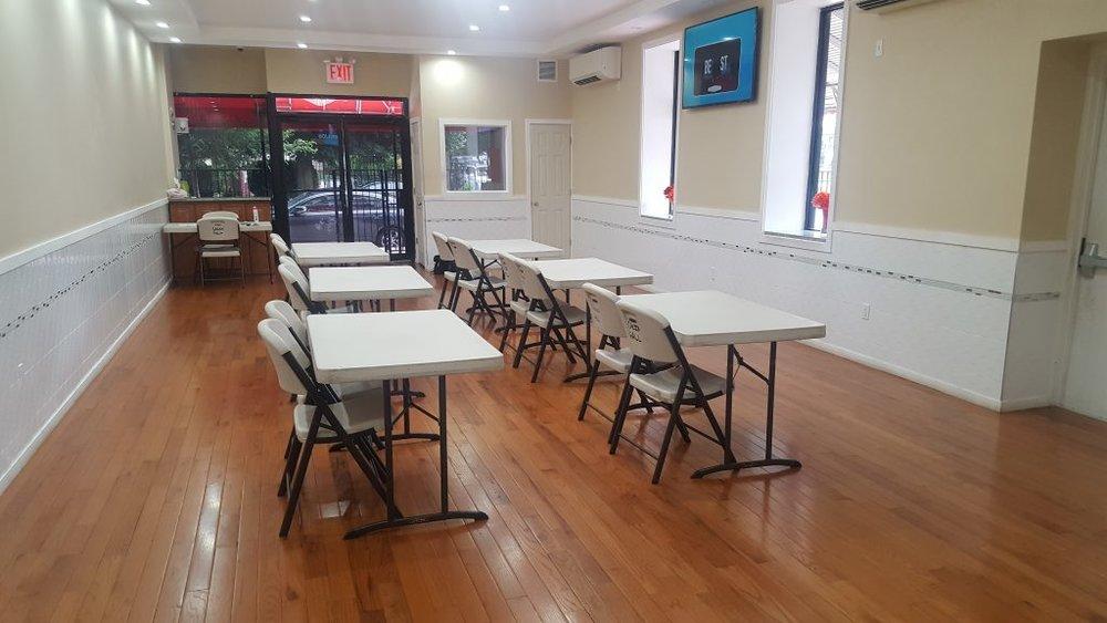 Training Hall setup