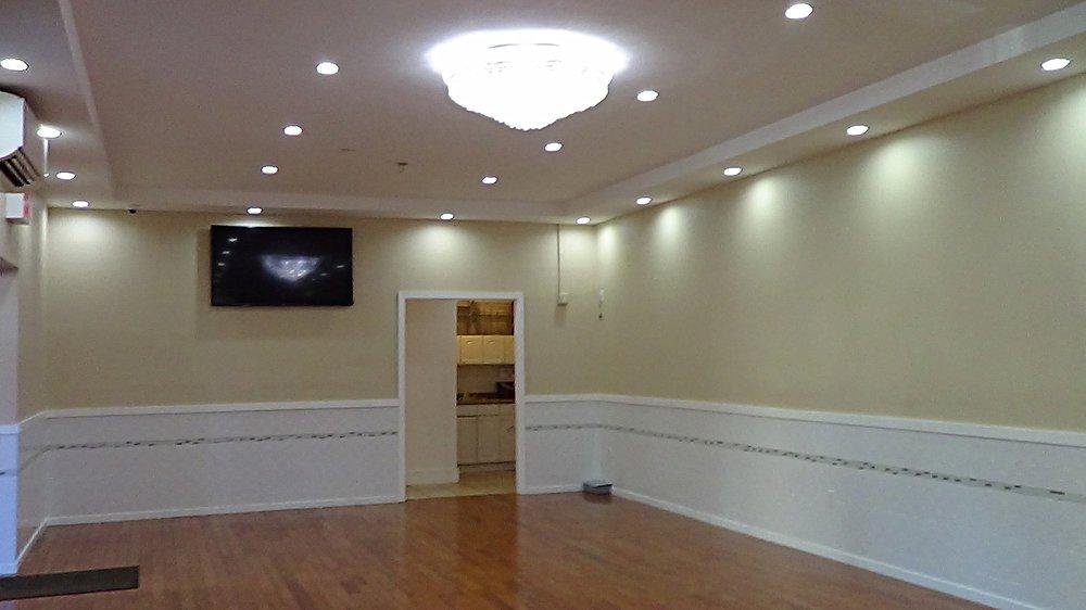 60 inch TV, Kitchen & Restroom Hallway