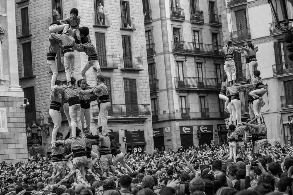 Human towers activity - Be part of the catalan