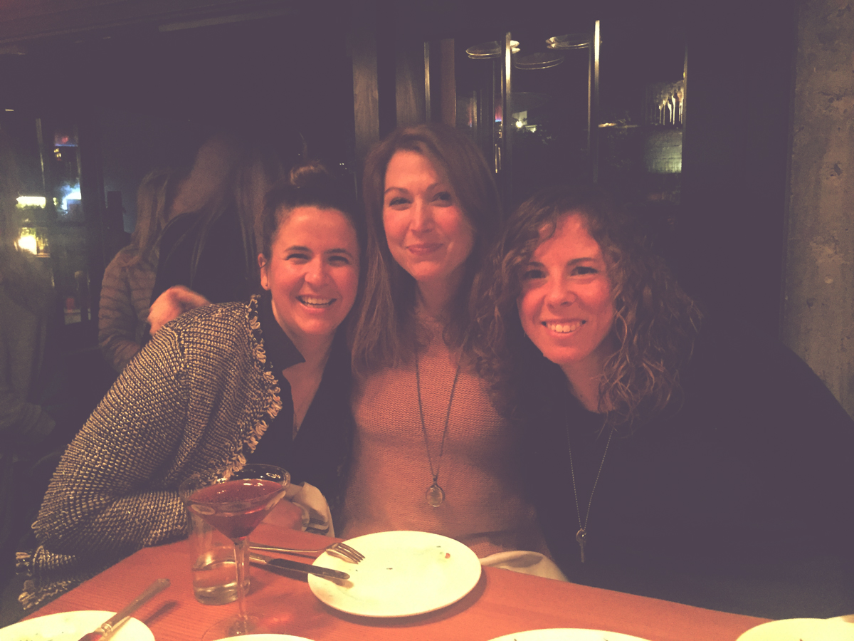 Jen, Caroline and I enjoying one hell of a meal at LARK:)