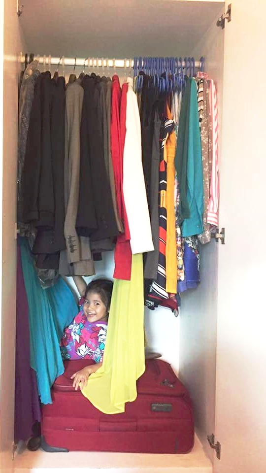 Hanging clothes now have room for Zeeka!