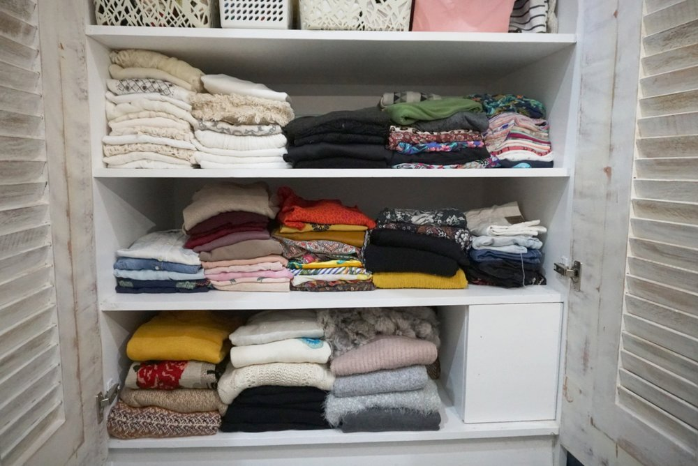 AFTER - stacked clothes by category