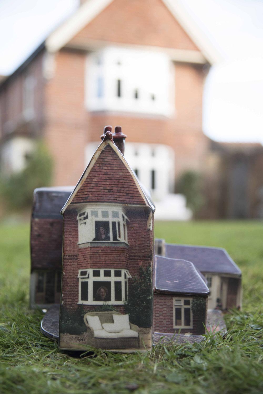 A miniature ceramic home by Alice Mara