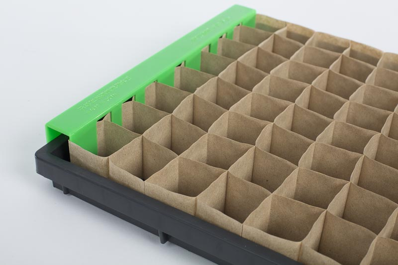 Non-chain paper pots with spreading clip.