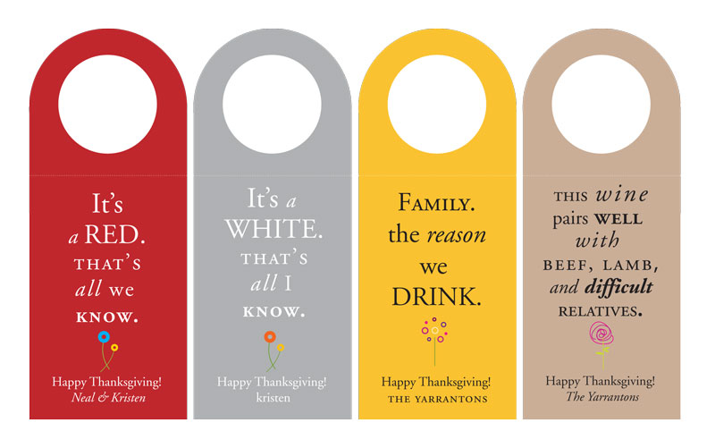 "Tag that bottle of wine + let them know... it's from you!   We were never Boy Scouts, but we sure love their motto, ""Be Prepared!"" Keep our cheeky wine tags in your home, handbag, or glove compartment for those times when you need to give a gift. Don't let your good intentions go unnoticed, let them know...it's from you!"