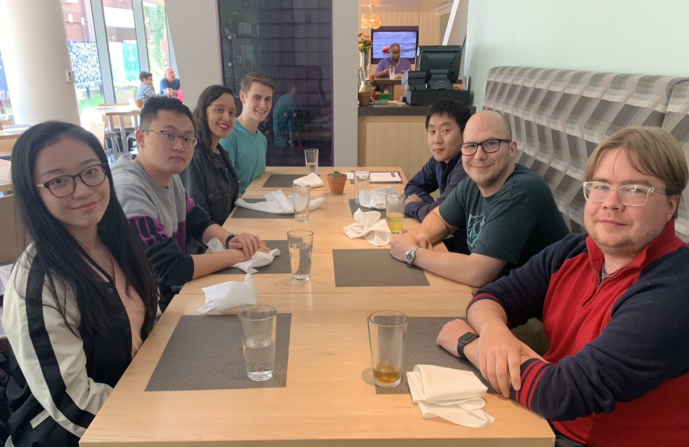 Group Photo - October 2018Weiwei Kong, Yuan Wei, Gabriela Justino, Jason Linn, Xiaolong Lang, Bill Lenart, MJAH.