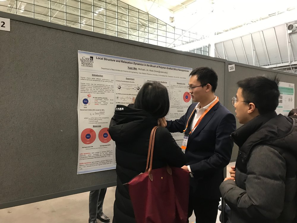 2019 APS March Meeting - Boston, MAYuan Wei presents his research poster.