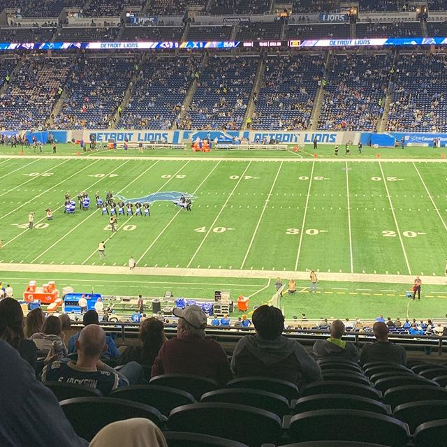 A huge thank you to the Ayar family for the awesome seats today! Win or lose, getting to a #detroitlions game is always a blast. #grateful #appreciationpost