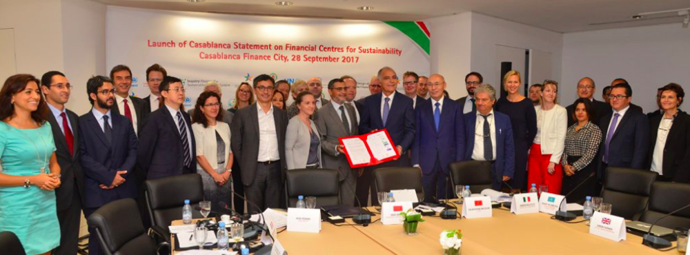 THE FOUNDING MEMBERS OF THE CASABLANCA STATEMENT ON SUSTAINABLE FINANCIAL CENTERS