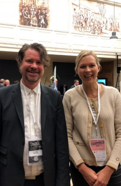HENRIK HJELTE; CEO CHROMAWAY, aND CECILIA REPINSKI; EXECUTIVE DIRECTOR, STOCKHOLM GREEN DIGITAL FINANCE, Paris 8 DEC 2017