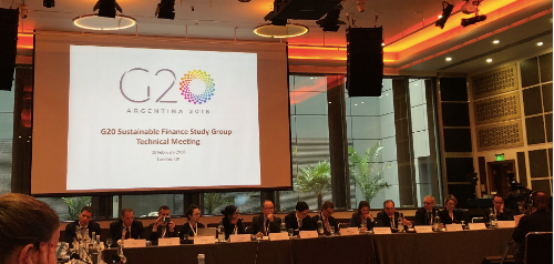 DIGITAL FINANCE DISCUSSED AT G20 GREEN FINANCE STUDY GROUP IN LONDON, 20 FEBRUARY 2018