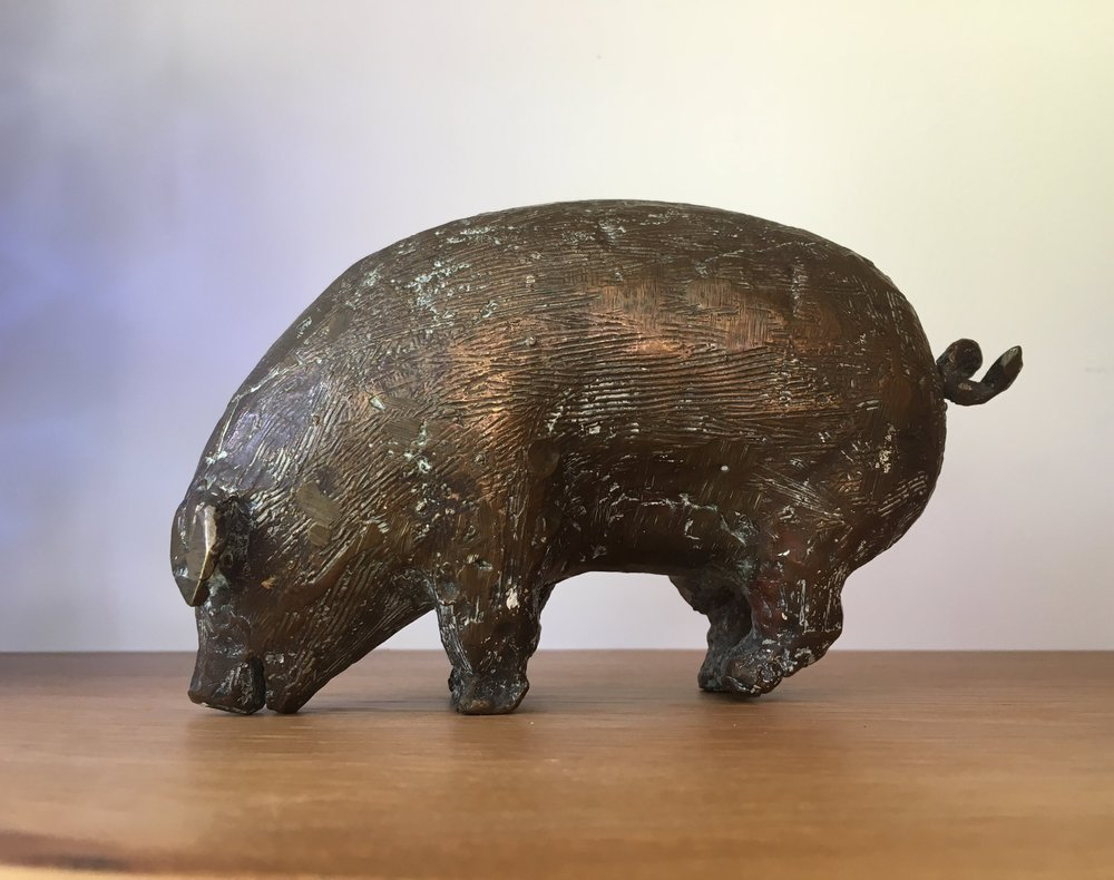 - A bronze pig which is my favourite!