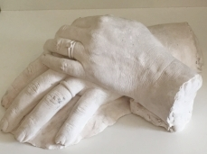 A rather gruesome cast of hubby & I's hands, supposed to be made into resin!