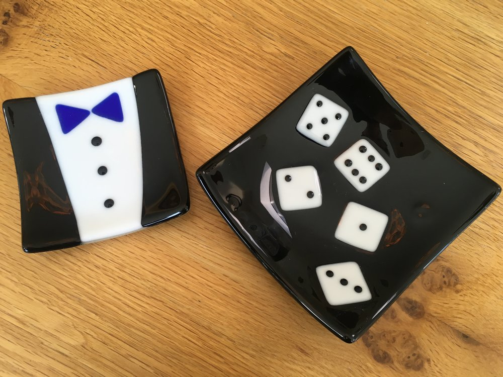 Dinner Jacket and large Dice dish