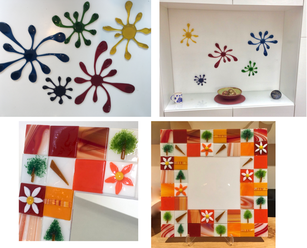 Bespoke pieces - As each piece of fused glass is handmade and one of a kind, it makes creating bespoke pieces in colours to match your own decor much simpler.  Check out the Bespoke page for the story behind these products.