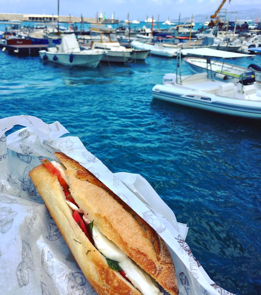 A panino from Aldo's at Marina Grande