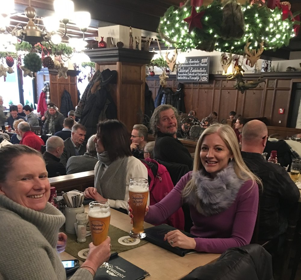 Christmas cheers at the Augustiner Klosterwirt