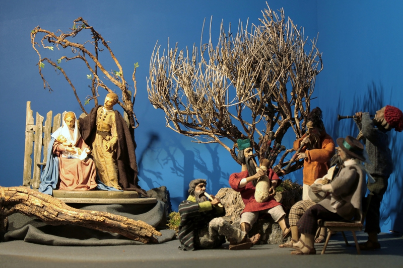 One of the 100 Nativity Scenes inside the Rathausgalerie Marienplatz