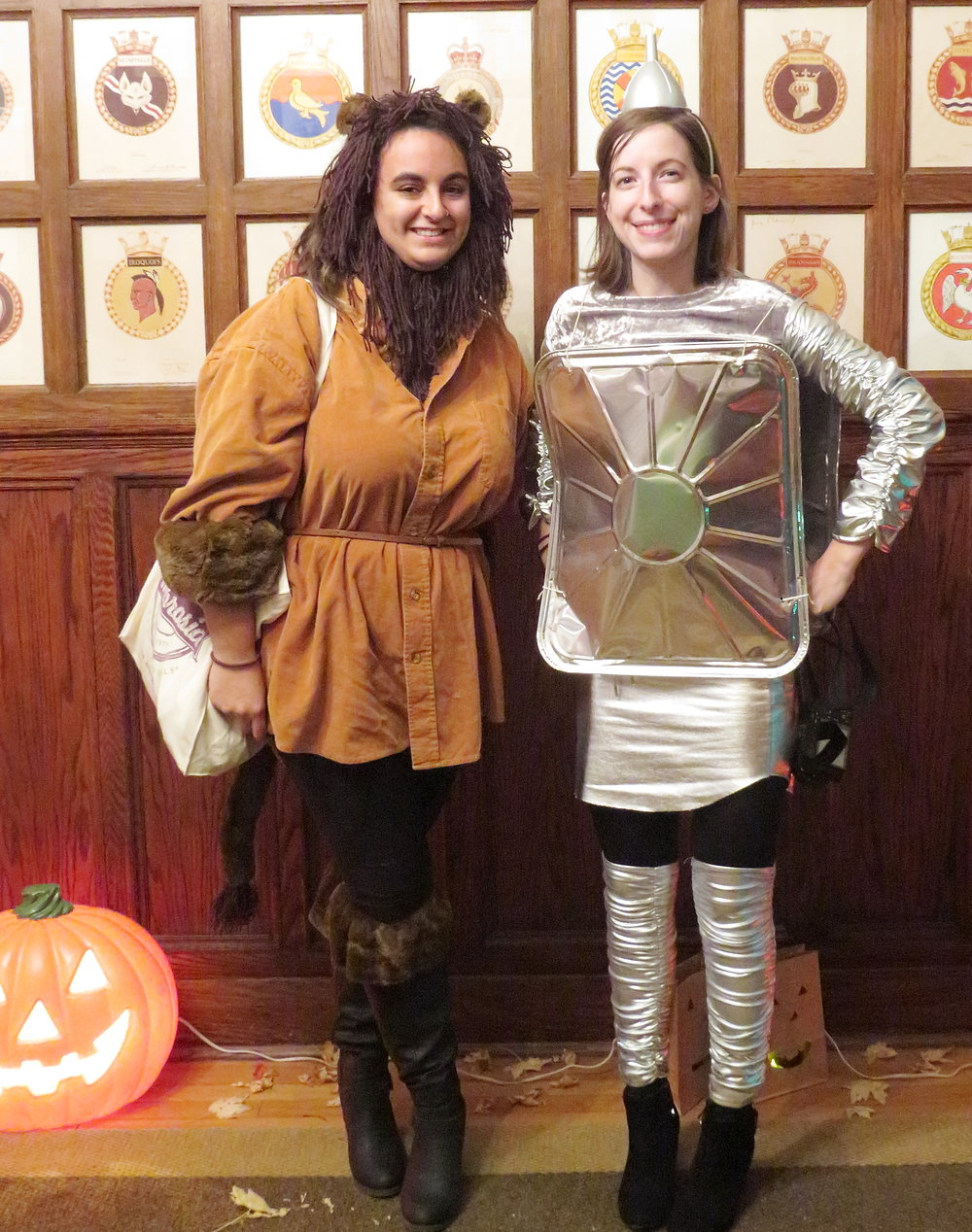 FUNNIEST COSTUME   Look how cute the   Two Market Girls   are!  We're especially loving their use of recycled items!  Thank you to  Mindful Macarons  for donating an amazing prize of yummy Pumpkin Spice macaroons - Vegan of course!    Photo taken by Aaron Fisher