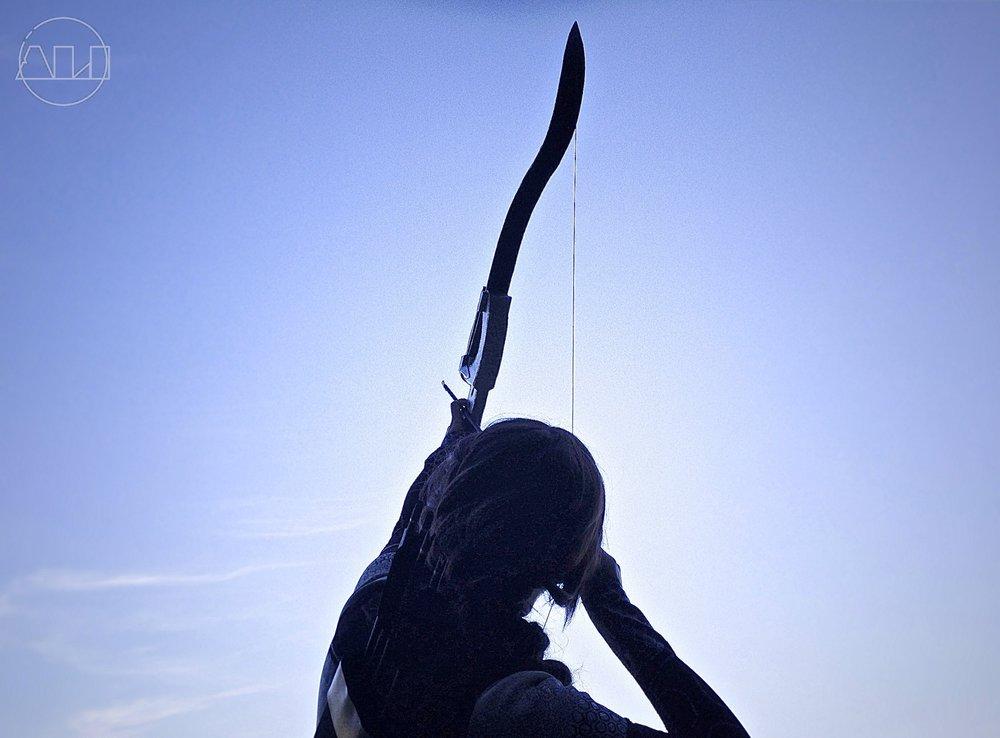 ÁLI as Katniss - Bow to Sky.JPG