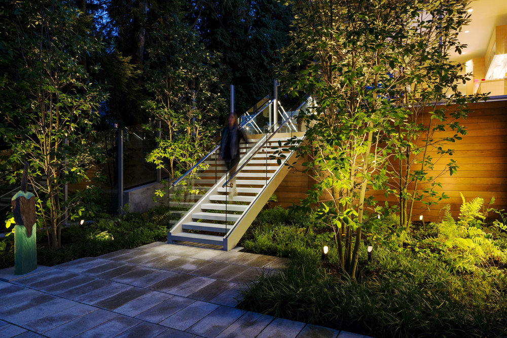 Chestnut Hill Stair Handrail Lighting