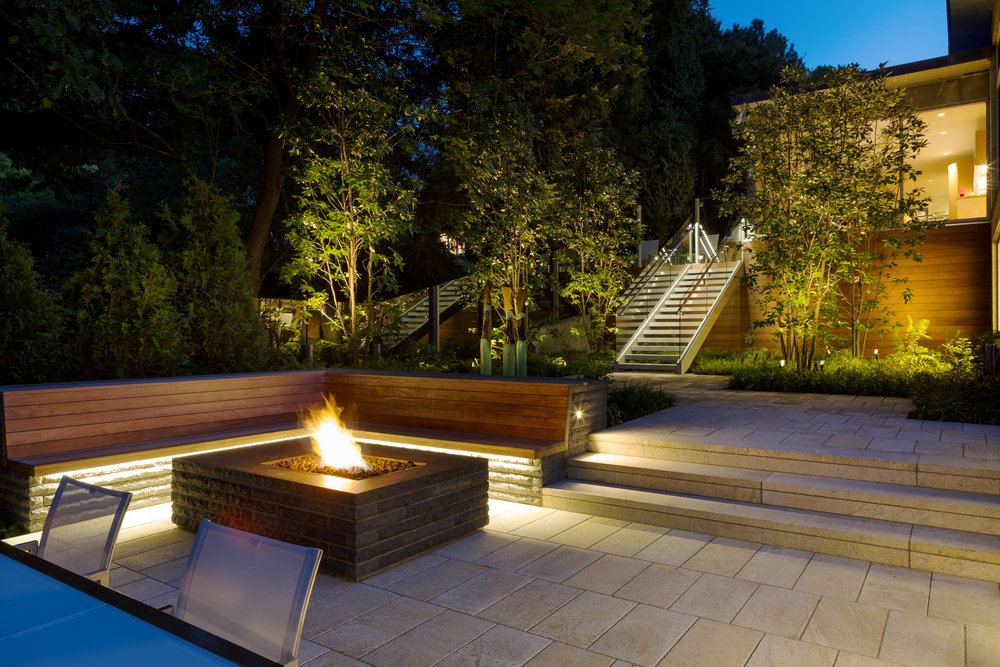 Chestnut Hill Landscape Lighting + Glass Sculptures