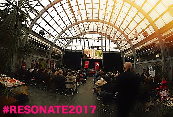 Resonate revellers bask in the honourable presence of opening keynote speaker and BPI Chairman Ged Doherty - photo cred Kayleigh McLaughlan