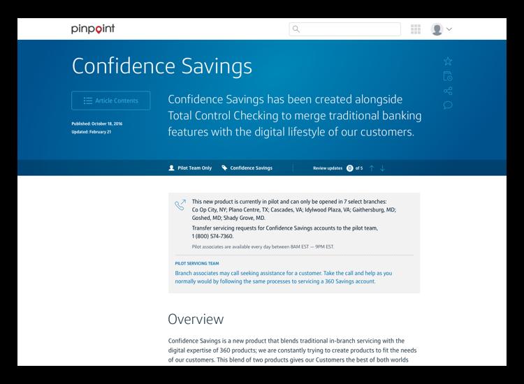 Confidence Savings Article