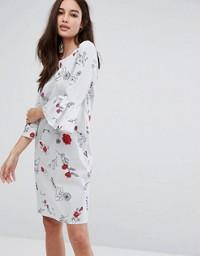 Asos Floral Ruffle Print Dress