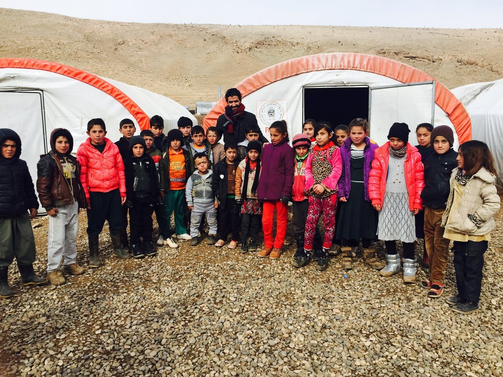 Informal Camp of Yazidis - School - Sinjar Mountains.JPG