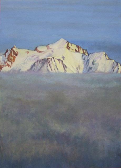 Mont Blanc au dessus de la mer de brouillard