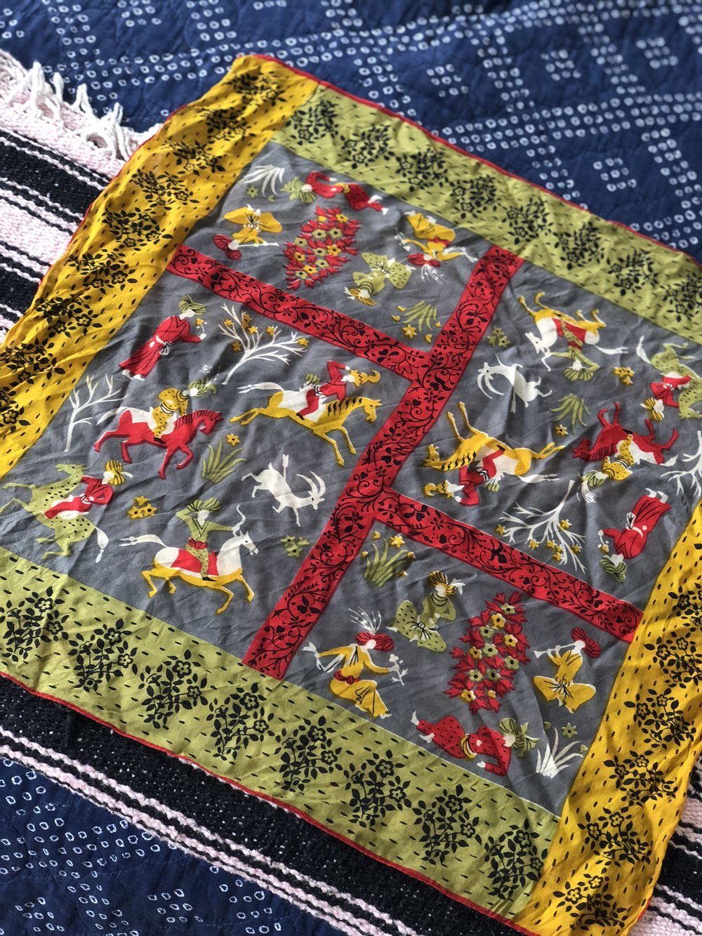 Mughal print scarf.