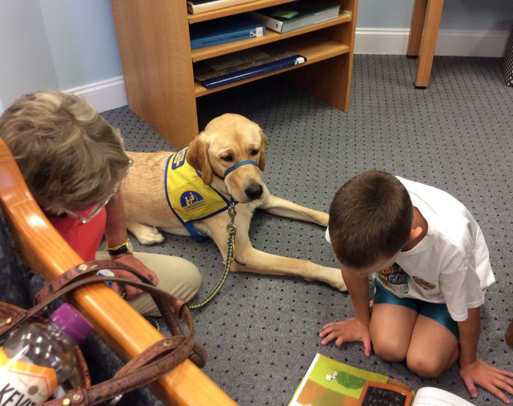 Summer Reading continues with our last READ TO THE DOGS, Monday, August 20.