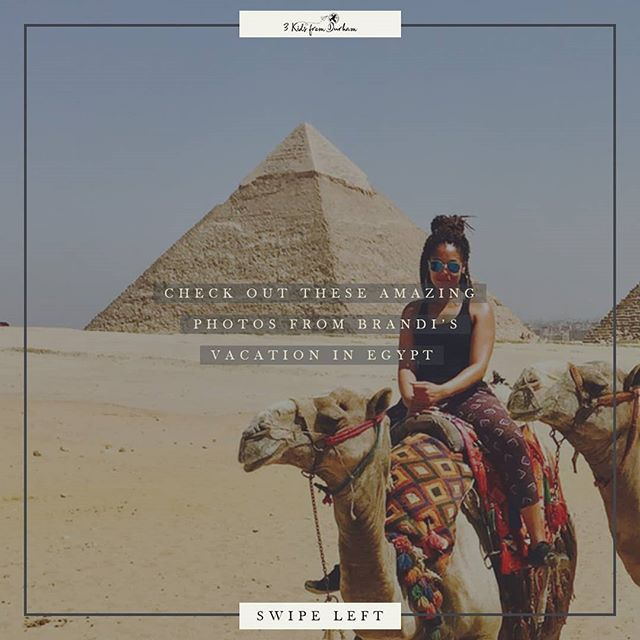 Check out these amazing photos from Brandi's vacation in Egypt! 👉🏽 View more photos in the 3kidsfromdurham.com gallery! • • • • • #3kidsfromdurham #travel #blacktravel #travelblogger #travelnoire #millenialsabroad #blacktraveljourney #passport #friends #doyoutravel #travelmore #lovetotravel #doyoutravel #egypt #africa #blackgirlstraveltoo