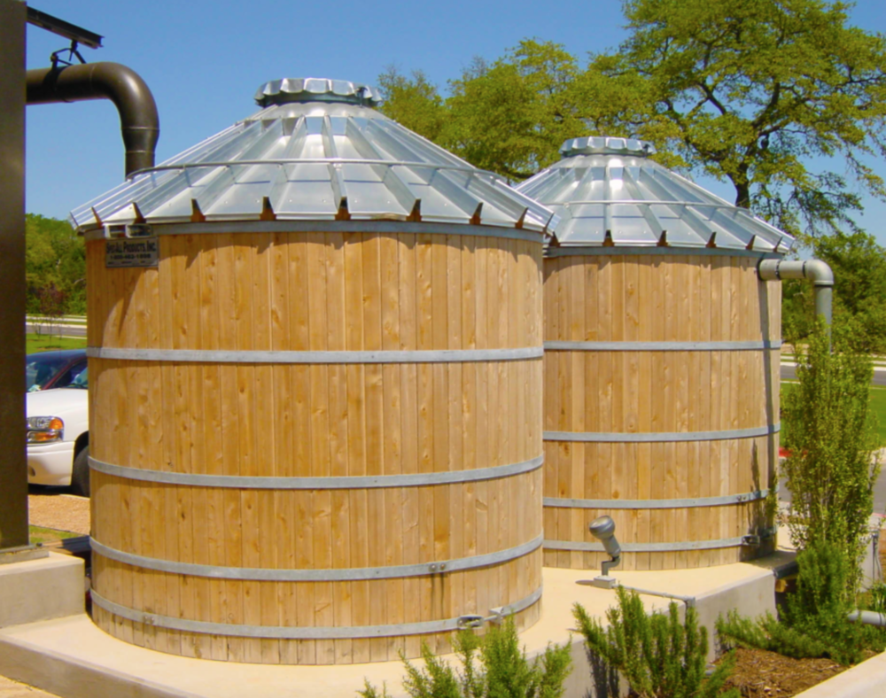 Our roofs were designed to collect rainwater which is key to healthy plant propagation and reduces are use and dependance on municipal water sources. We have seven 500 gallon cisterns that need to be connected to gutters, wrapped and tied into an irrigation system to feed plants in our 3,000 sf nursery and in our public garden.