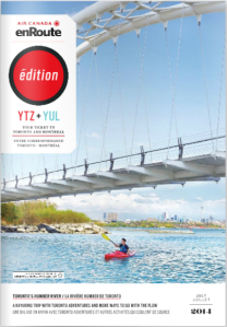 We're featured in this month's issue of Air Canada's magazine 'enRoute!'