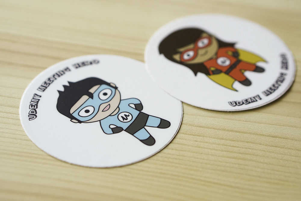 Be a Udemy meeting hero! Stick it proudly on your laptop.