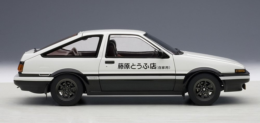 Reference photo, an AE86 toy car